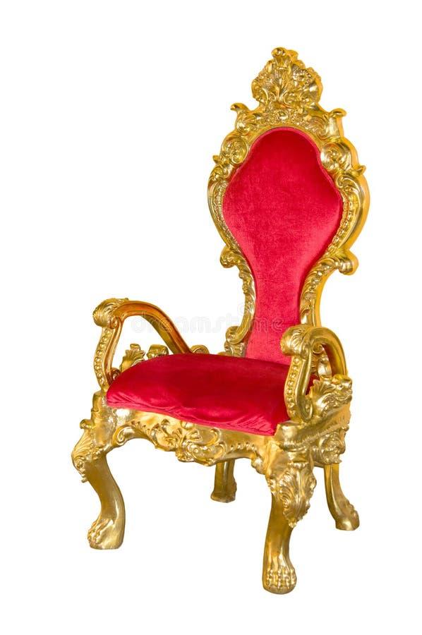 Oude rode stoel royalty-vrije stock afbeelding
