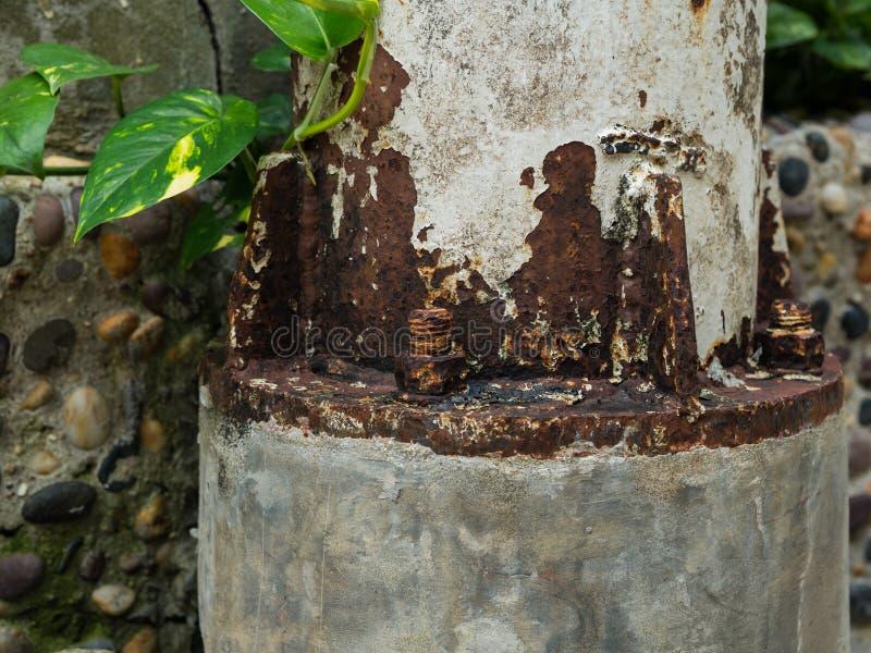 Oude roestige bouten stock foto