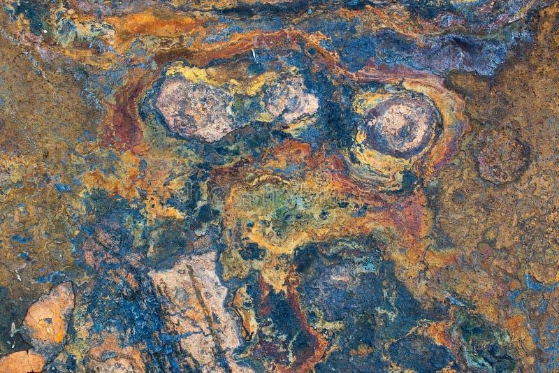 Oude roestige metaaltextuur stock foto's