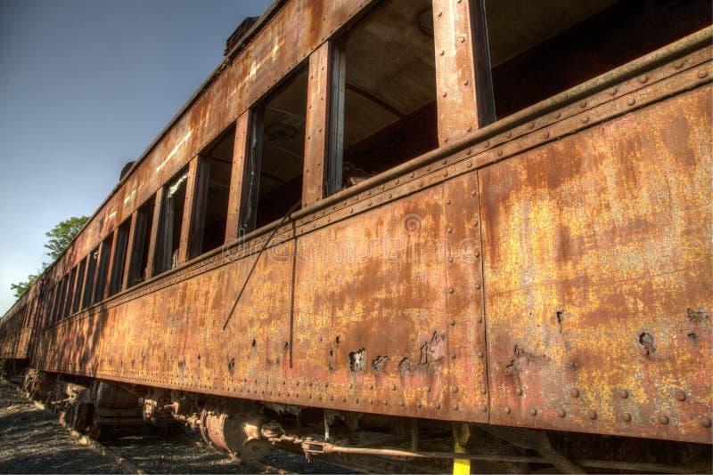 Oude roestige trein stock afbeeldingen