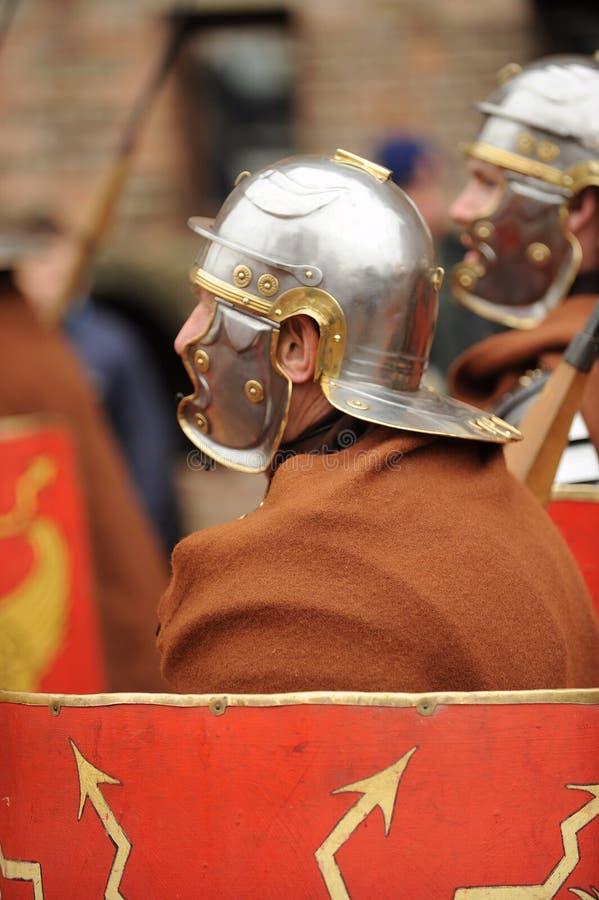 Oude Roman militairen royalty-vrije stock fotografie