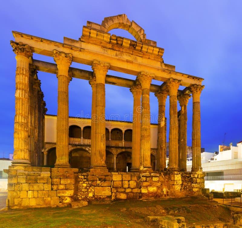 Oude roman tempel van Diana in Merida royalty-vrije stock fotografie