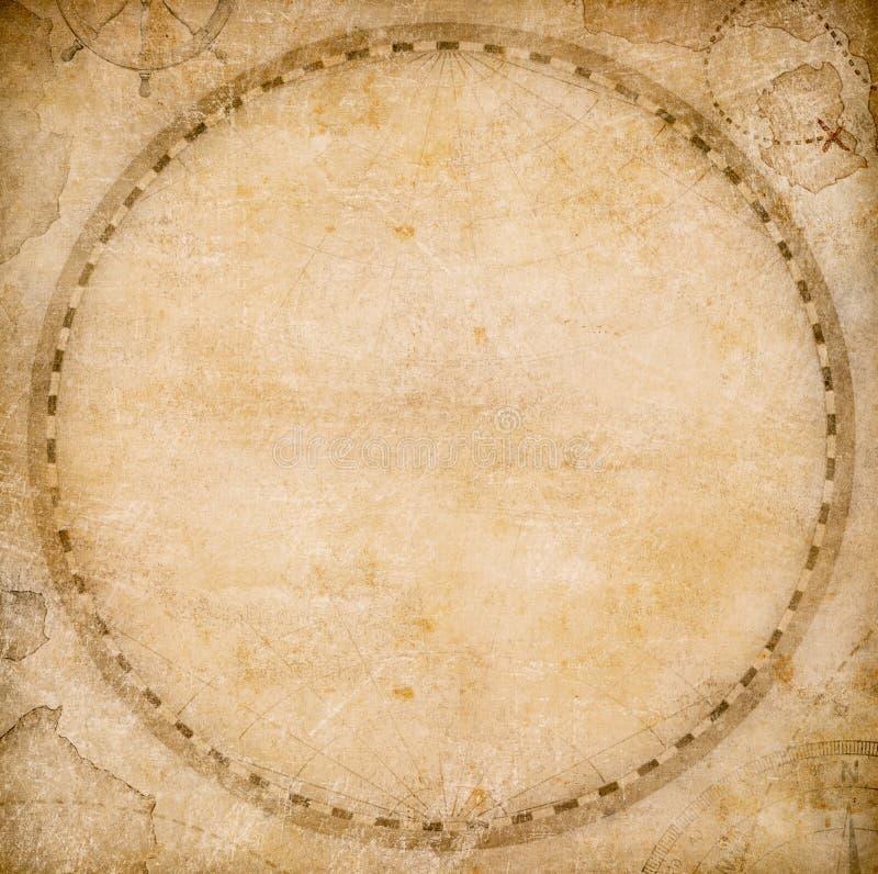 Oude ronde van de wereldkaart of atlas uitstekende stylization als achtergrond royalty-vrije illustratie