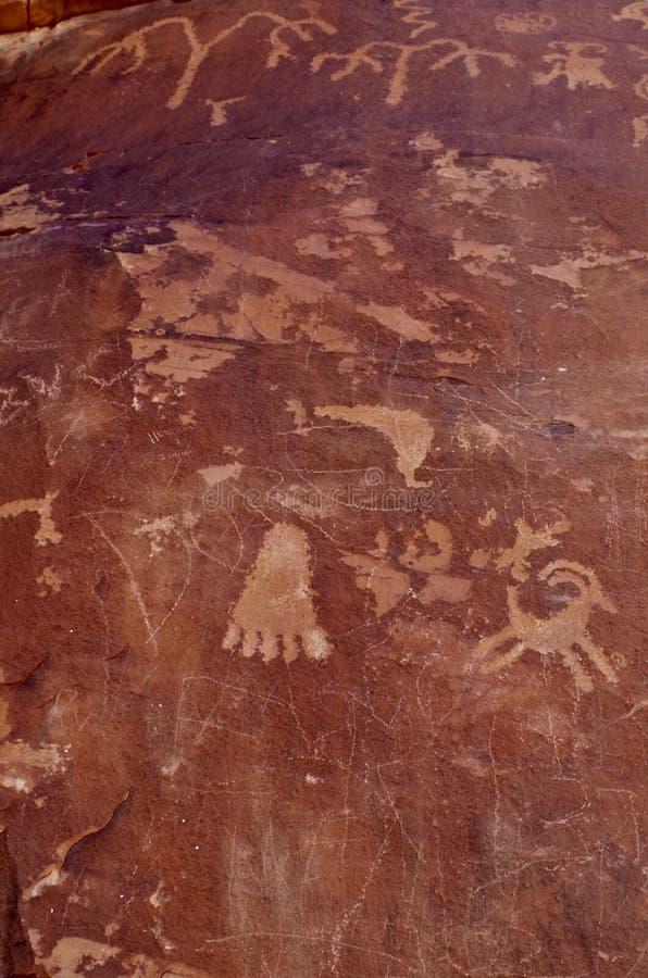 Oude Rotstekeningen, Vallei van het Park van de Brandstaat, Nevada, de V.S. royalty-vrije stock afbeeldingen