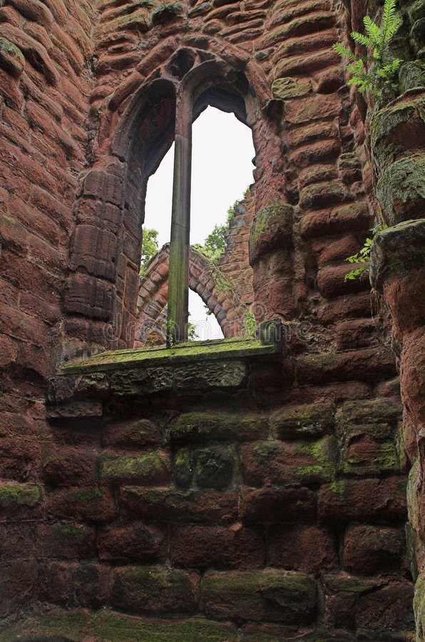 Oude ruïne royalty-vrije stock fotografie