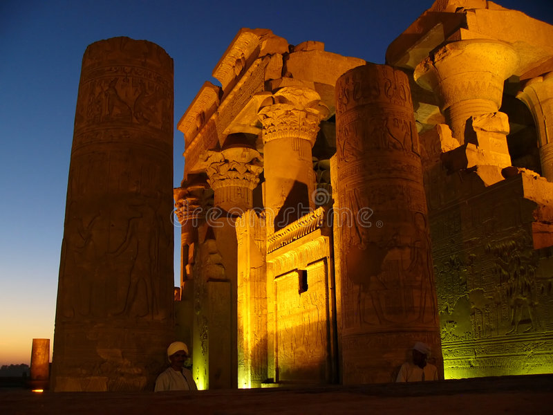 Oude ruïnes in Egypte   stock fotografie