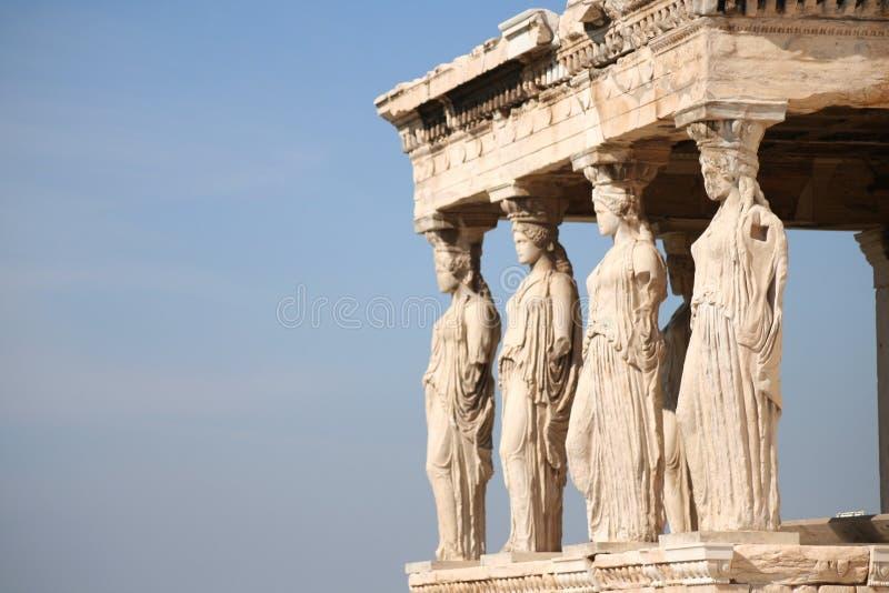 Oude ruïnes in Griekenland royalty-vrije stock foto's