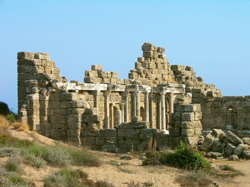 Oude ruïnes, Kant, Turkije stock afbeeldingen