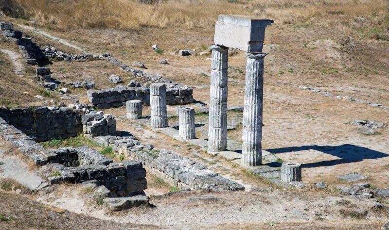 Oude ruïnes Pantekapeya op Onderstel Mithridates royalty-vrije stock afbeelding