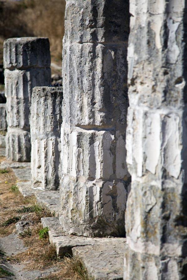 Oude ruïnes Pantekapeya op Onderstel Mithridates royalty-vrije stock fotografie