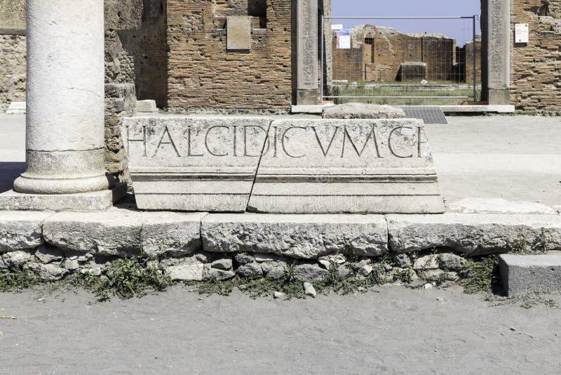 Oude Ruïnes in Pompei Italië royalty-vrije stock afbeeldingen
