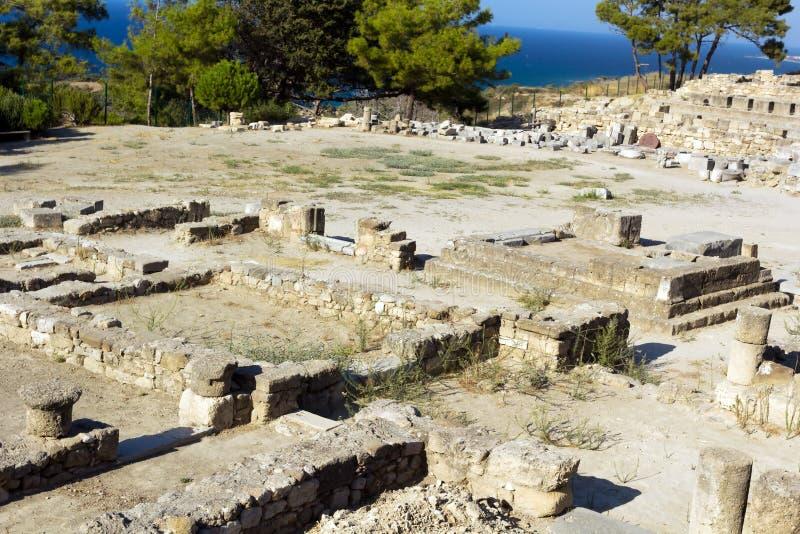 Oude ruïnes van Kamiros - Rhodos royalty-vrije stock fotografie