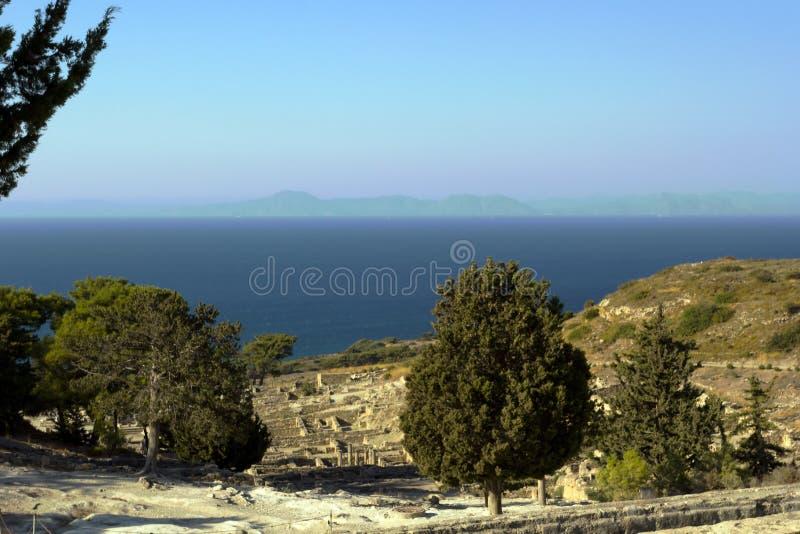 Oude ruïnes van Kamiros - Rhodos royalty-vrije stock afbeeldingen