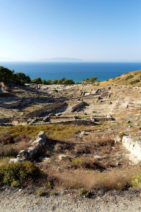 Oude ruïnes van Kamiros - Rhodos royalty-vrije stock foto's
