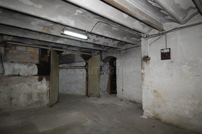 Oude ruimte van een huis bedrading, royalty-vrije stock afbeeldingen