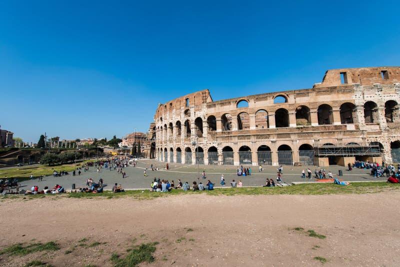 Oude ruines van Rome stock afbeelding
