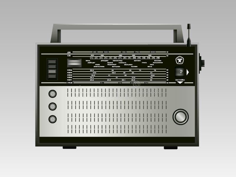 Oude Russische radio stock afbeeldingen