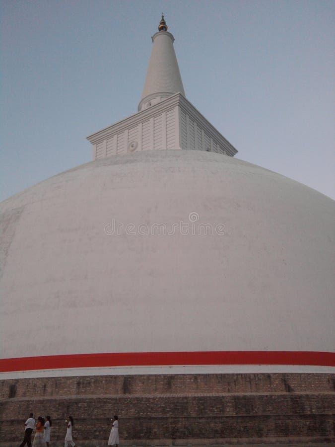 Oude Ruwanwelisaya Stupa royalty-vrije stock afbeelding