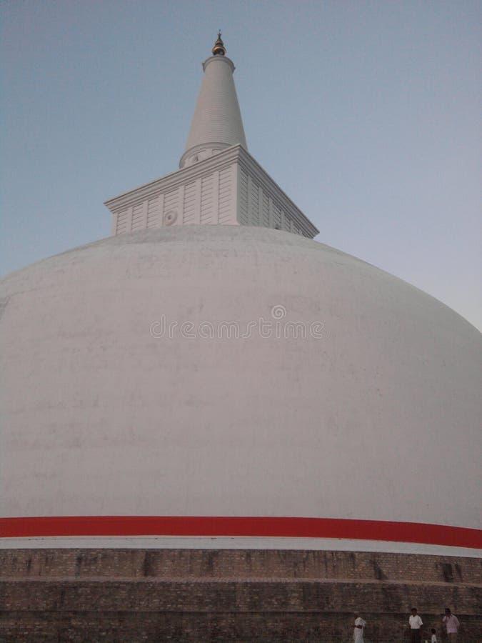 Oude Ruwanwelisaya Stupa stock afbeelding