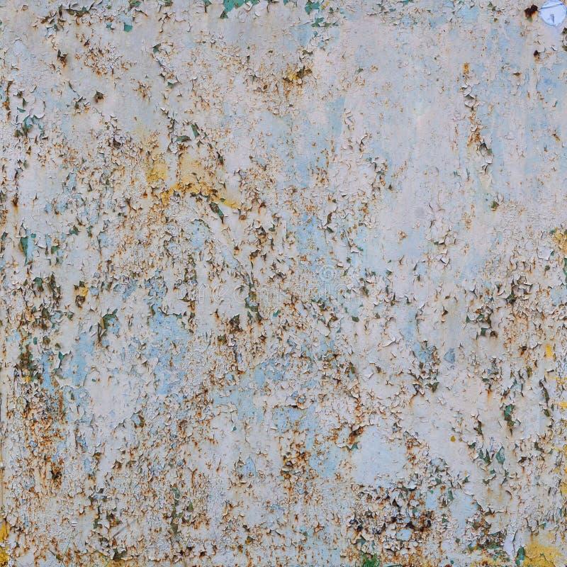 Oude ruwe geschilderde metaalplaat stock fotografie