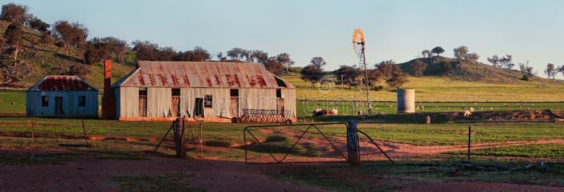 Oude schapenpost in het Centrale Westen NSW royalty-vrije stock afbeeldingen