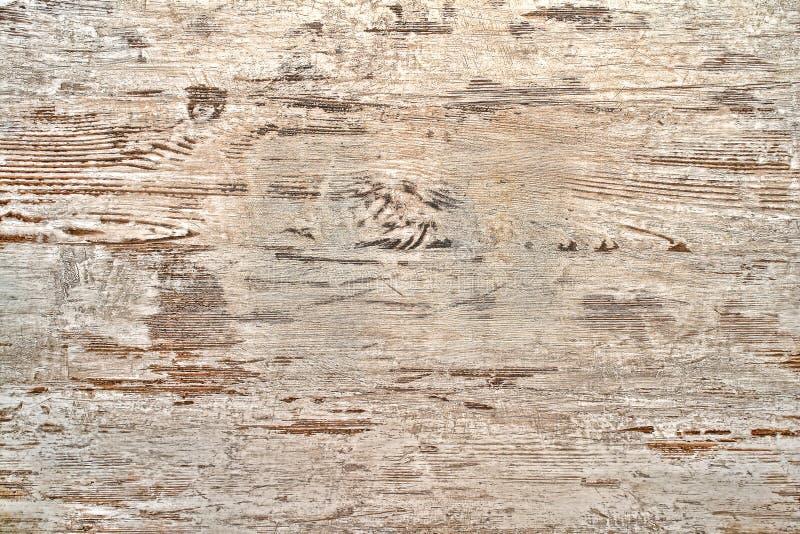 Oude Schil Witte Verf op Houten Raadsachtergrond stock afbeeldingen