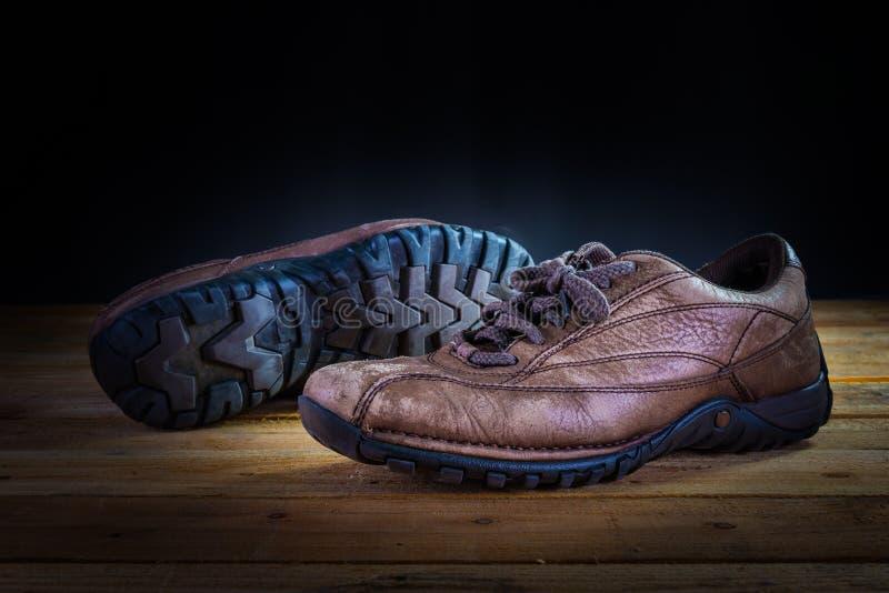 Oude schoen royalty-vrije stock fotografie