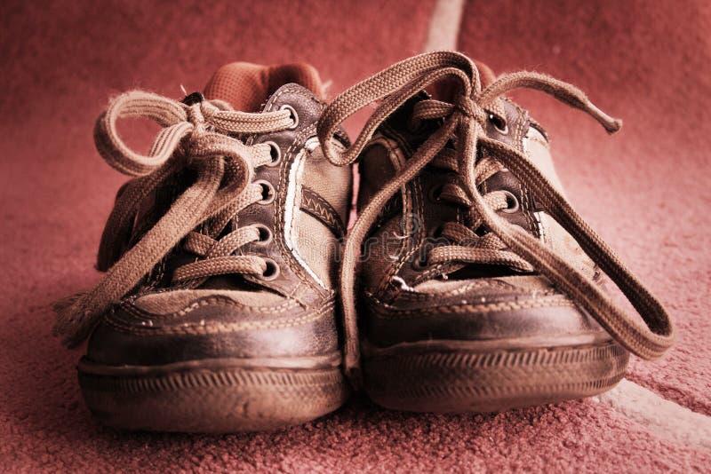Oude schoenen stock foto