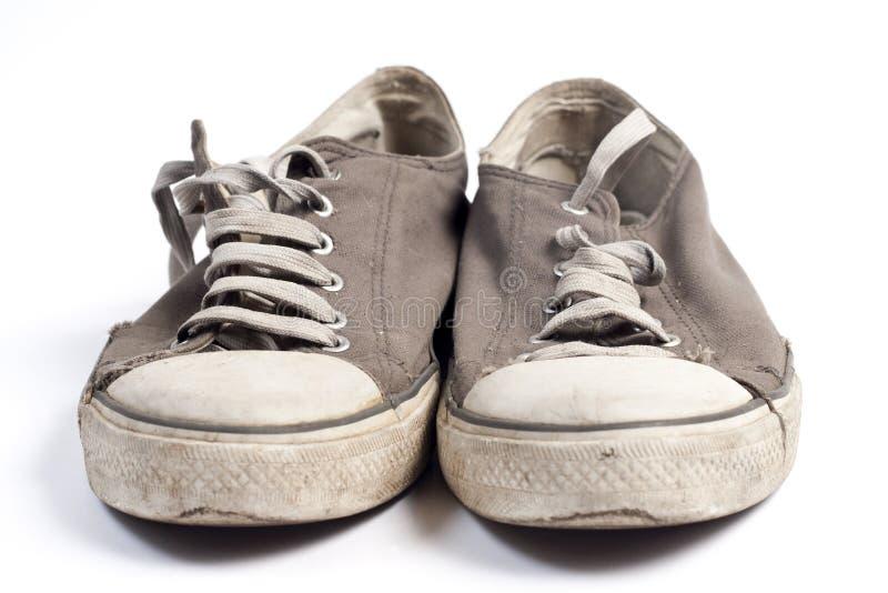 Oude schoenen royalty-vrije stock afbeelding