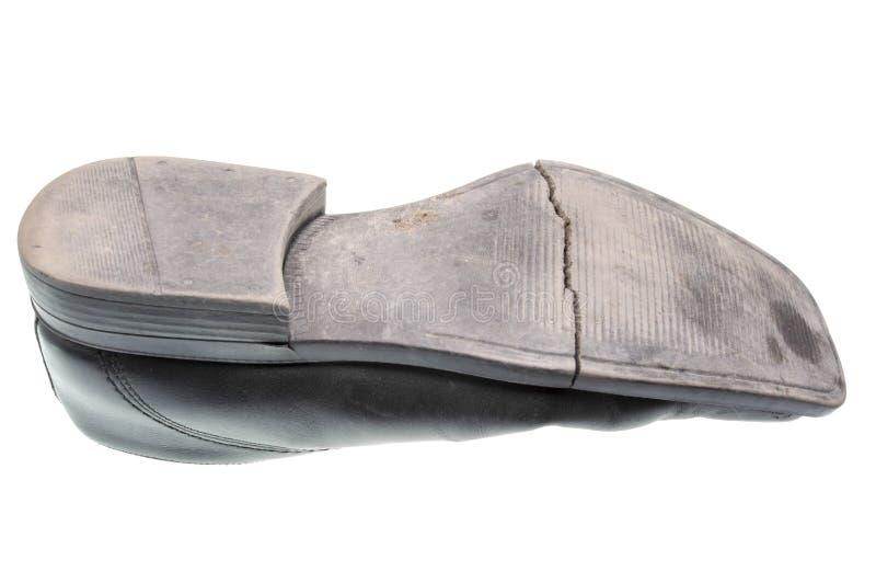 Oude schoenzool stock foto's