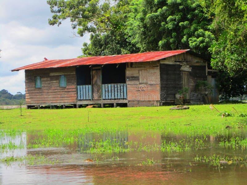 oude school in Caño-Toevluchtsoord Costa Rica van het Zwarte het Wilde Leven royalty-vrije stock foto