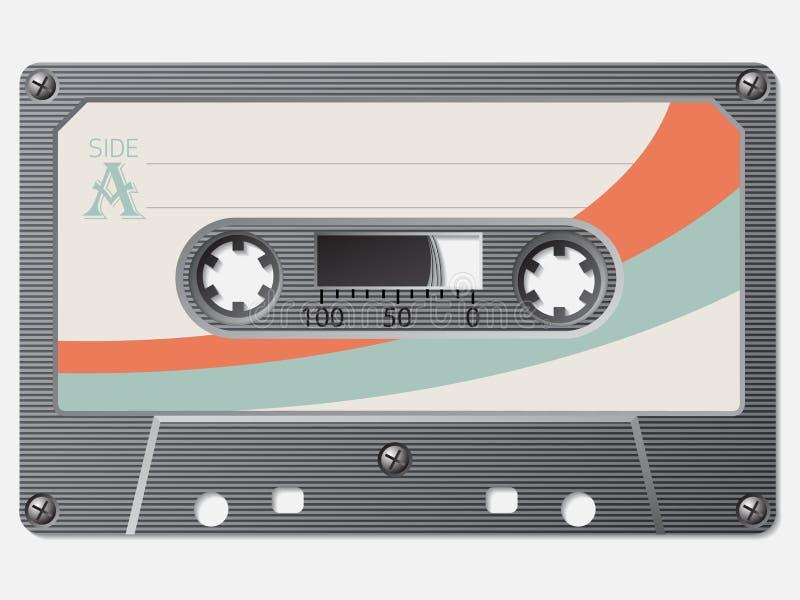 Oude school retro cassette royalty-vrije illustratie