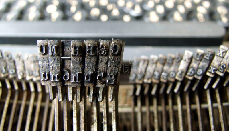 Oude Schrijfmachine royalty-vrije stock afbeelding