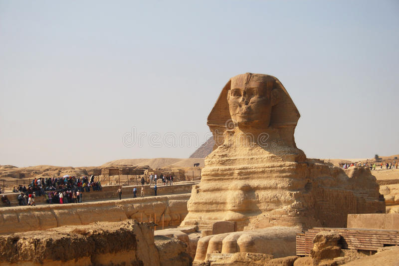 Oude Sfinx van Giza royalty-vrije stock fotografie