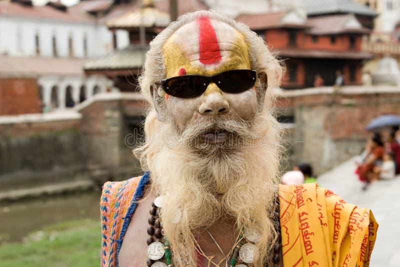 Oude shaivasadhu royalty-vrije stock foto