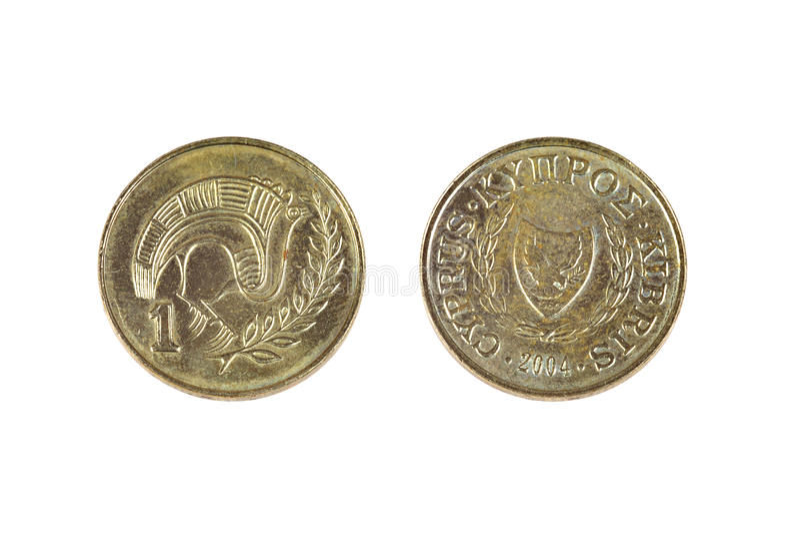 Cyprus één cent stock afbeelding