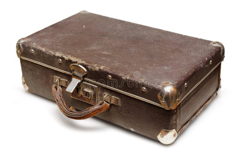 Oude sjofele koffer royalty-vrije stock afbeeldingen