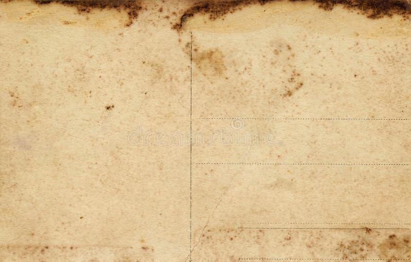 Oude sjofele lege prentbriefkaaren. royalty-vrije stock foto