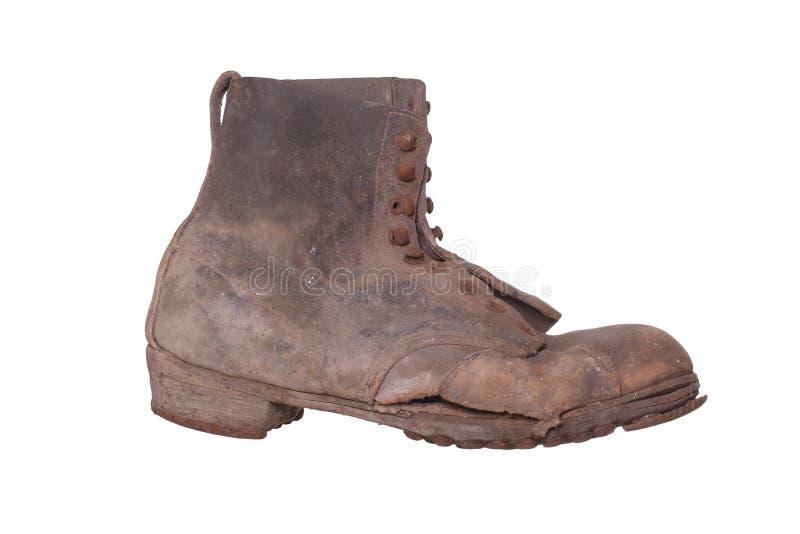 Oude sjofele schoen stock afbeelding