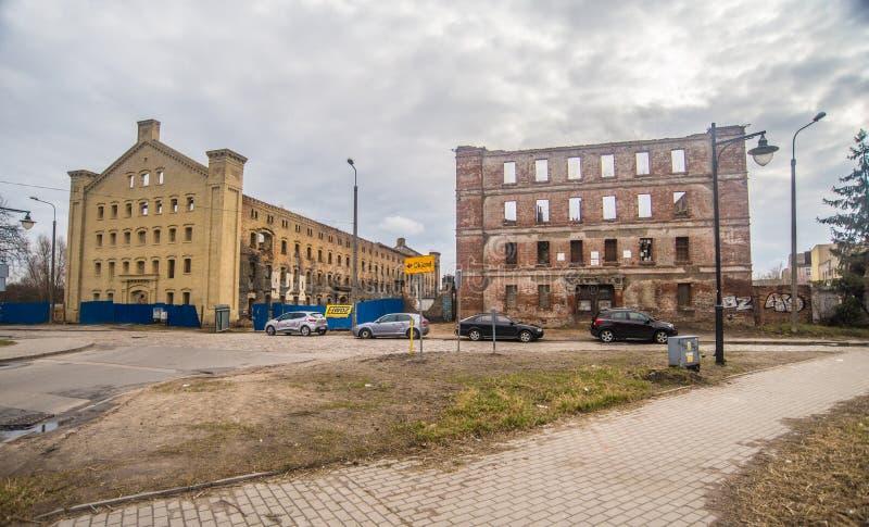 Oude slachthuisruïnes in Oude Stad, Gdansk, Polen stock foto