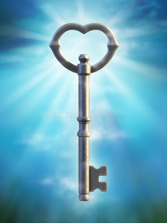 Oude sleutel royalty-vrije illustratie