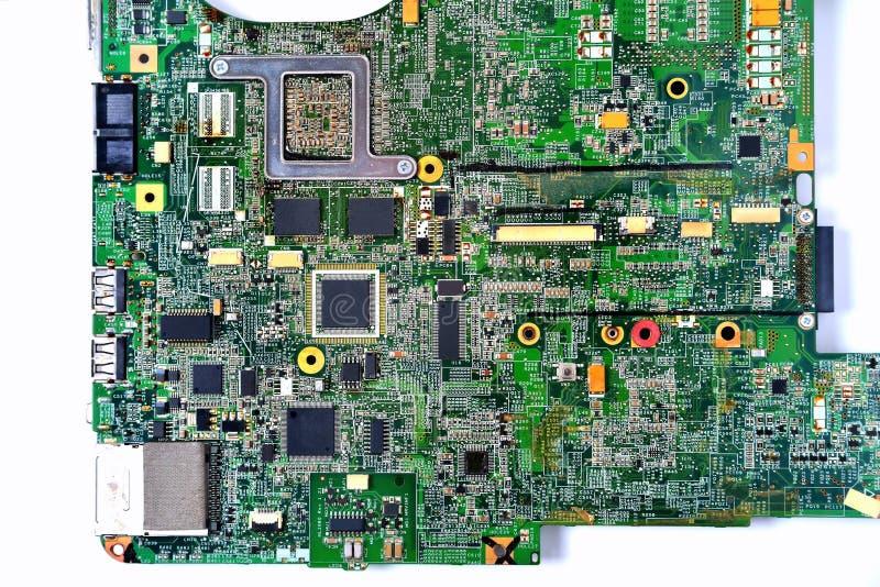 Oude spaander van laptop royalty-vrije stock foto's