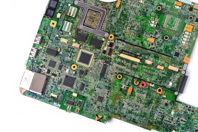 Oude spaander van laptop royalty-vrije stock afbeelding