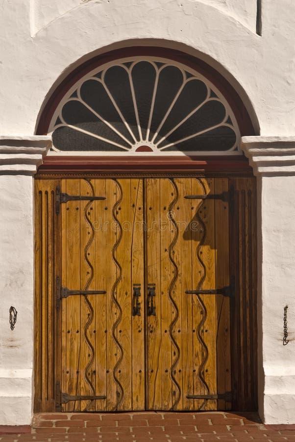 Oude Spaanse deur stock afbeeldingen