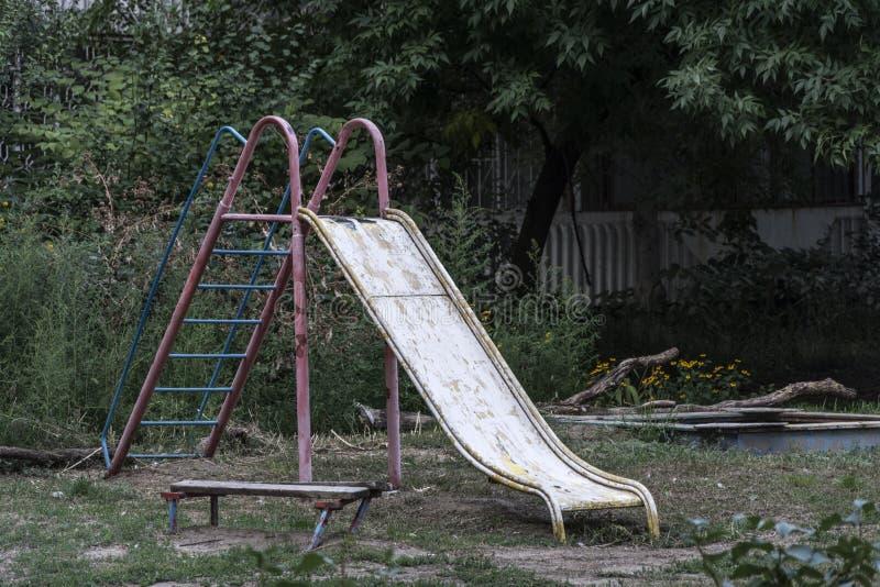 Oude speelplaats royalty-vrije stock afbeelding