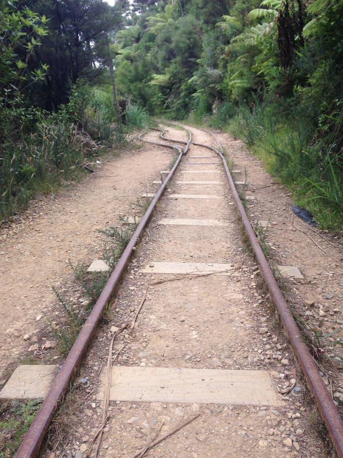 Oude spoorlijn Karangahake royalty-vrije stock afbeelding
