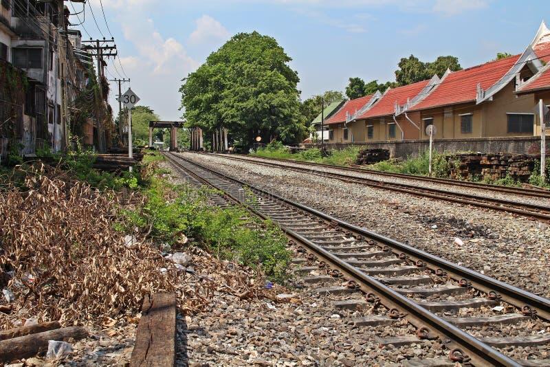 Oude spoorweg stock fotografie