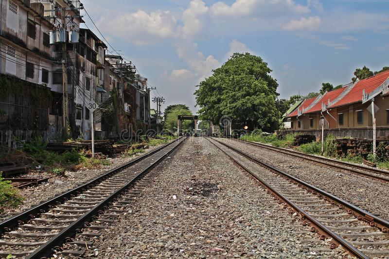 Oude spoorweg 2 stock foto
