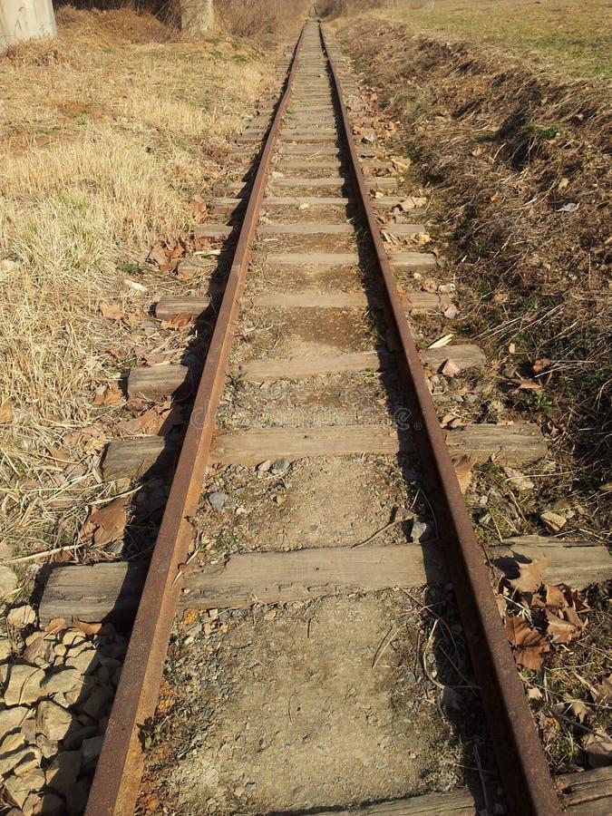 Oude spoorweg stock afbeelding