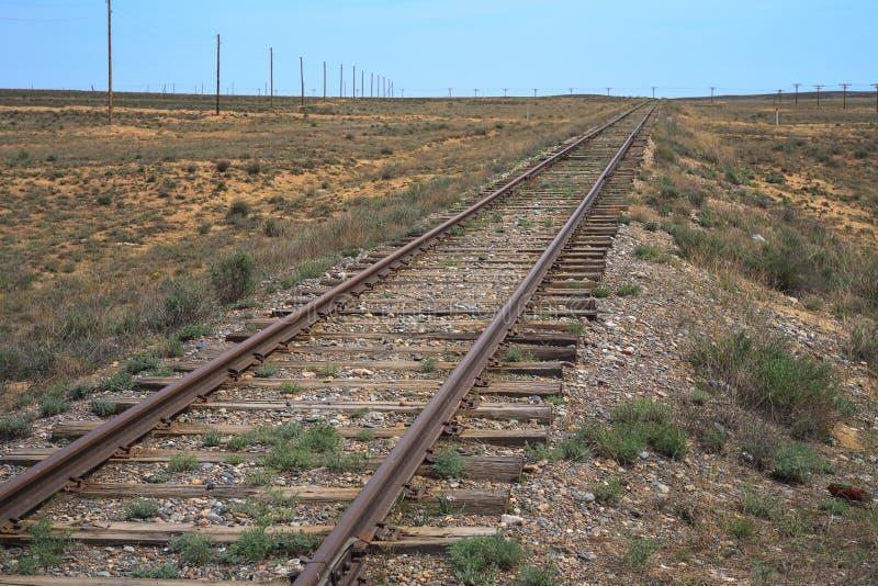 Oude spoorweg royalty-vrije stock foto's